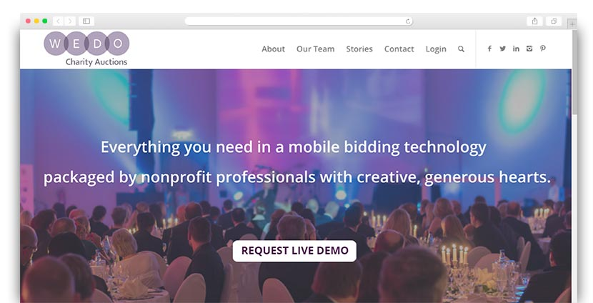 See how WeDo Charity Auctions' software can help your organization create an incredible event.