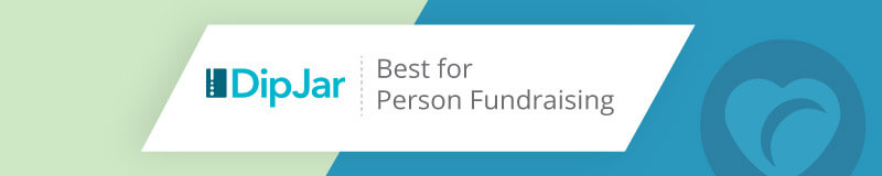 DipJar is the best nonprofit software for in-person fundraising.