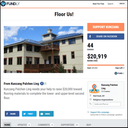 Here's the crowdfunding main page example from Floor Us.