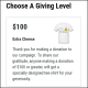 This military- and veteran-themed campaign used a t-shirt as a special promotion for major donations.