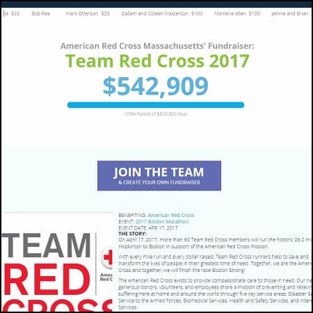 Here's the main crowdfunding page for Team Red Cross.