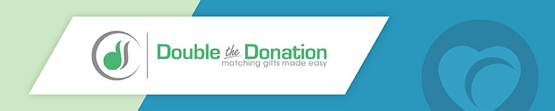 Double the Donation prospect research software helps nonprofits identify potential corporate partners.