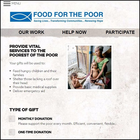 Find a food bank to send non-perishables to in order to help Hurricane Irma victims.