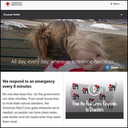 Help with Hurricane Maria and Irma relief by donating to the Red Cross.