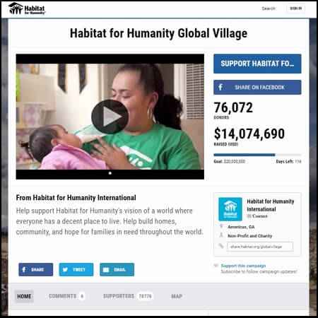 Help with the rebuilding after the earthquake in Mexico by donating to a Habitat for Humanity campaign.