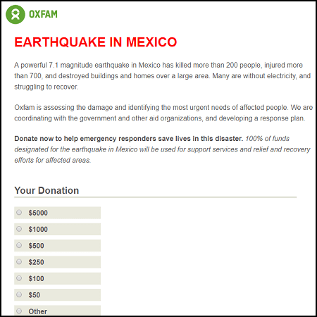 You can help with Oxfam's earthquake relief in Mexico.