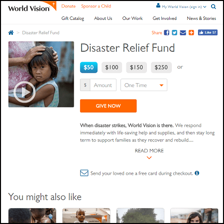 Help earthquake victims and families by donating to the World Vision Disaster Relief Fund.