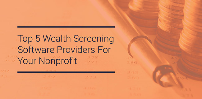 Browse the top 5 wealth screening software providers in the nonprofit sector.