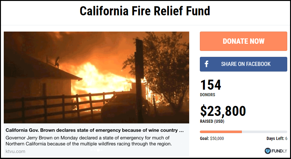 California Fire Relief Fund