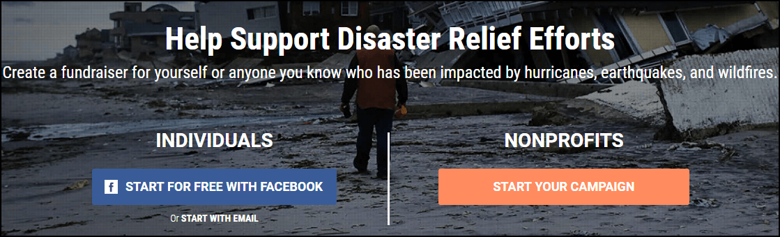 Find a crowdfunding campaign to contribute to for wildfire relief in California.