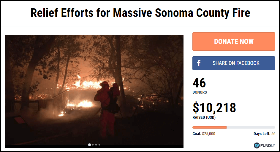 Relief Efforts for Sonoma County Fire