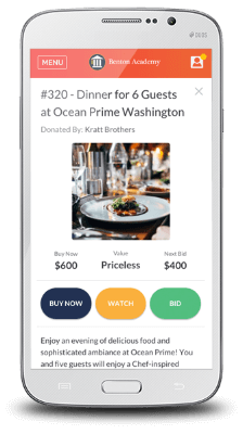 BidPal's Salesforce app and mobile bidding tool can help you drive donations by simplifying the auction process.