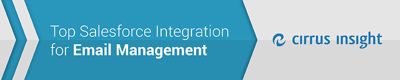 Cirrus Insight is the top Salesforce integration for easy email management.