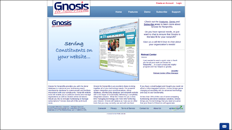 See how Gnosis for Nonprofits' event registration tool can aid your nonprofit.