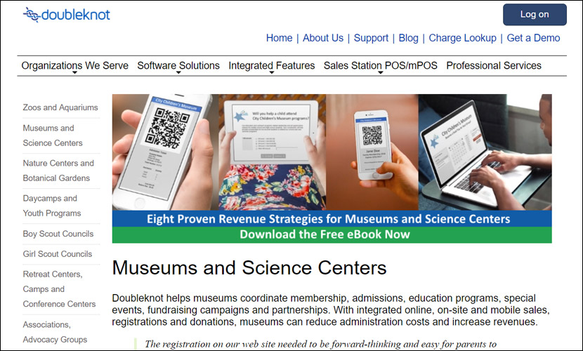 Support your museum programs with Doubleknot museum fundraising software.