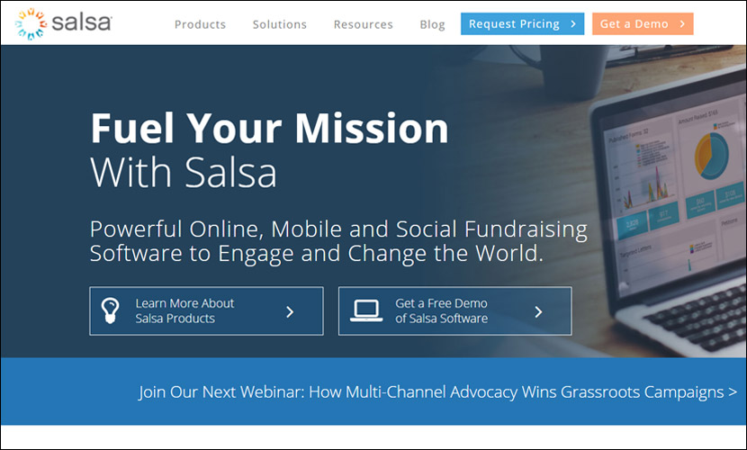 Organize fundraising events and track membership with Salsa Labs' museum fundraising software.
