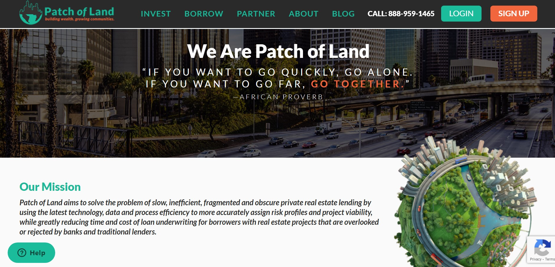 Patch of Land is one of our favorite crowdfunding websites.
