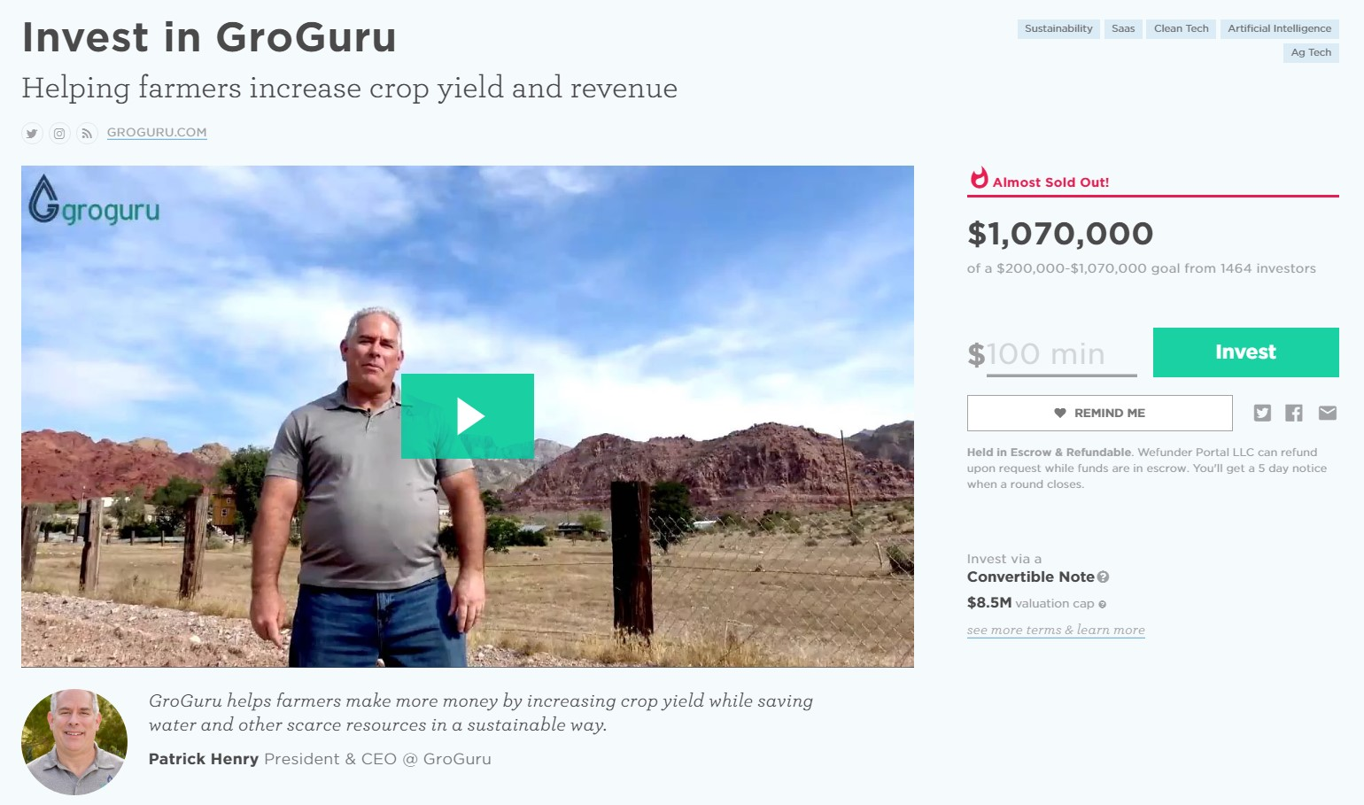 WeFunder is one of our favorite crowdfunding websites.